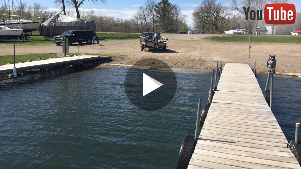 Deep Concrete Dock Ramp Boat Launch Harbor on Lake Mille Lacs