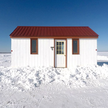 Ice Fishing - Fish House Rentals. We offer 32 deluxe ice fishing houses for rent, sleep from 2 to 10 people. With clean bunks, table/chairs, cook stoves, rattle reels, gas lights, carpet, & some have bathrooms on wide, plowed roads on Mille Lacs Lake.