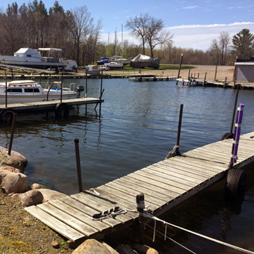 Private boats can launch from our protected Marina with the deepest boat ramp on Lake Mille Lacs
